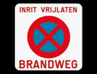 Parkeerverbod - Brandweg + E3