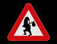 Verkeersbord SB250 - Kabouter