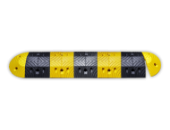 Verkeersdrempel rubber 5-10km/u - 70mm hoog - geel zwart