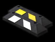 Parkeerstop rubber 550x150x100mm - reflecterend geel of wit