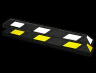 Parkeerstop rubber 1200x150x100mm - reflecterend geel of wit