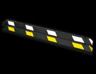Parkeerstop rubber 1800x150x100mm - reflecterend geel of wit