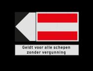Scheepvaartbord 3450x2400mm ( 5 delig) BPR A.1 - F.2.a + F.3 aanvullende aanduiding