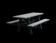 Picknicktafel - grijs / zwart - Oslo