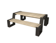 Picknicktafel - beige / zwart - Matrix