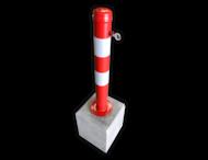 Afzetpaal uitneembaar 750mm met betonvoet 295x295x350mm