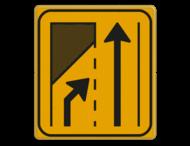 Omleidingsbord WIU T32-2r geel/zwart