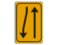 Omleidingsbord WIU T02-2r geel/zwart