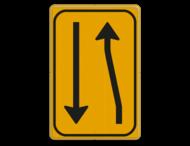 Omleidingsbord WIU T03-2l geel/zwart