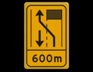 Omleidingsbord WIU T31-2l met afstand geel/zwart
