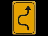 Omleidingsbord WIU T05-1l geel/zwart