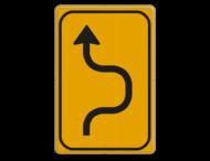 Omleidingsbord WIU T05-1r geel/zwart