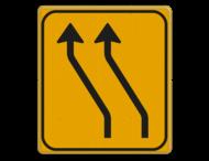 Omleidingsbord WIU T04-2l geel/zwart