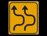 Omleidingsbord WIU T05-2r geel/zwart