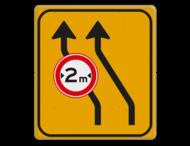 Omleidingsbord WIU T04-2lC18-2 geel/zwart