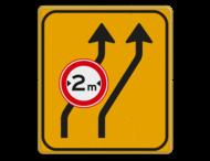 Omleidingsbord WIU T04-2rC18-2 geel/zwart