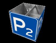 Parkeerplaatsbord met nummer, KUBUS met montagebeugels