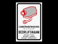 Camerabord België - vlakke uitvoering - wet van 21 maart 2017