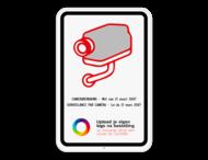 Camerabord België - wet van 21 maart 2017 - met logo - 2-talig