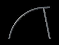 Fietsbeugel staal Ø48mm - 1400x850mm - antracietgrijs
