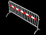 Dranghek staal 18kg - 250cm - 18 spijlen - rood wit reflecterende strip