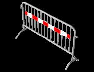 Dranghek staal 15,5kg - 200cm - 14 spijlen - rood wit reflecterende strip