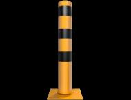Rampaal Kantelbaar Ø152 met voetplaat, geel/zwart