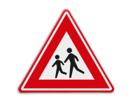 Verkeersbord RVV J21 - Vooraanduiding overstekende kinderen