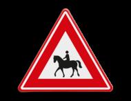 Verkeersbord - waarschuwing overstekende ruiters