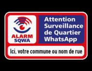 SQWA panneau additionnel 2x1 avec votre texte