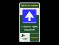 Informatiebord 1-2 McDonald's - Welkom bij.. + tekstblok