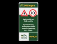 Informatiebord 1-2 McDonald's - Gesloten voor.. + tekstblok