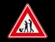 Verkeersbord waarschuwing Pokemon Go App spelers