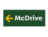 Routebord McDonald's / McDrive - vol reflecterend + pijlrichting
