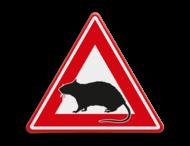 Verkeersbord - waarschuwing voor ratten