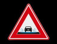 Verkeersbord - waarschuwing mogelijk wateroverlast bij regen