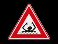 Verkeersbord - waarschuwing drenkeling