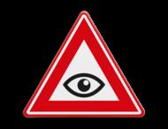 Verkeersbord - waarschuwing zorg dat je gezien wordt