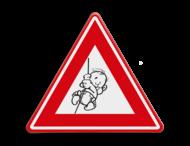 Verkeersbord baby op komst