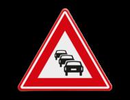 Verkeersbord RVV J33 - Vooraanduiding file