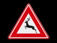 Verkeersbord RVV J27 - Vooraanduiding groot wild