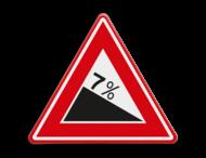 Verkeersbord RVV J07 - Voorwaarschuwing Gevaarlijke Daling