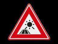 Verkeersbord - waarschuwing laagstaande zon