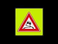 Verkeersbord RVV J20f - FLUOR Slipgevaar