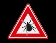 Verkeersbord - waarschuwing voor Teken(gebied)