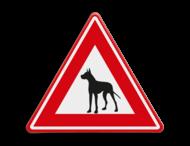 Verkeersbord - waarschuwing Waakhond