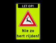 Verkeersbord - Nie zo hert rijden !