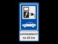 Verkeersbord RVV BW101_SP19 - auto laadpunt met tekst