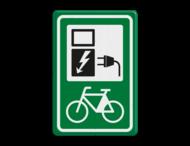 Verkeersbord BW101_SP20 - fiets laadpunt - RAL6024