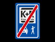 Informatiebord einde KISS & RIDE - pictogrammen